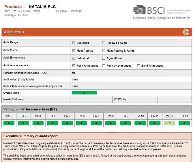 BSCI-sertificate